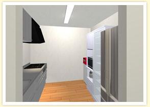 3DCADで実際のサイズとカラーで 整理収納されたキッチンをご提案!