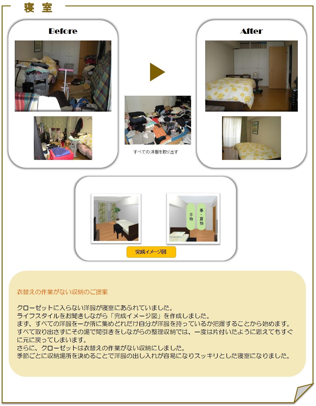サービス実例寝室2